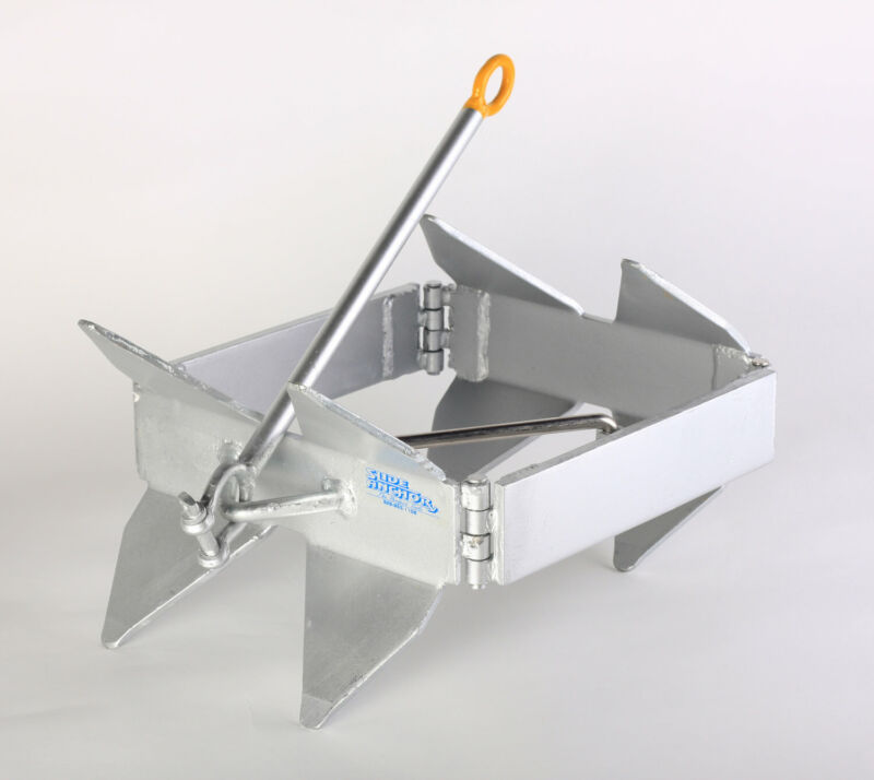 Slide Anchor - Box Anchor for Boats, Offshore, Small,Silver