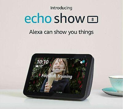 "New Amazon Echo Show 8   8"" HD smart display with Alexa - Charcoal Fabric"