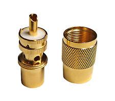 10 x High Quality Gold Teflon Type PL259 Connectors - 2 Piece Solder Type Design