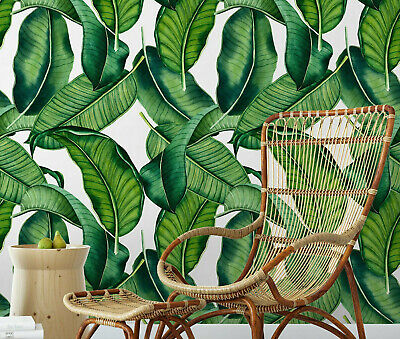 Big Banana Leaf Removable Wallpaper / modern jungle style palm self adhesive ](Jungle Leaf)