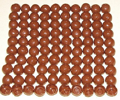 LEGO BULK LOT OF 100 REDDISH BROWN MINIFIG HAIR PIECES MALE WIGS PARTS