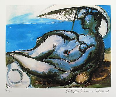 Pablo Picasso RECLINING NUDE AT BEACH Estate Signed & Numbered Small Giclee