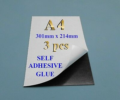 A4 3 1 Self Adhesive Flexible Refrigerator Magnet Sheets Silicone Paper