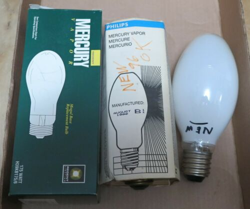 3 New 175 Watt Mercury Vapor Light Bulbs Regent, PHILLIPS, JFMAMJJASOND