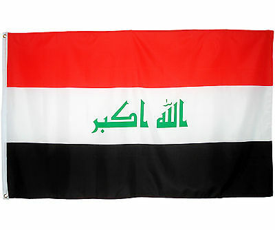 Fahne Irak Querformat 90 x 150 cm irakische Hiss Flagge Nationalflagge