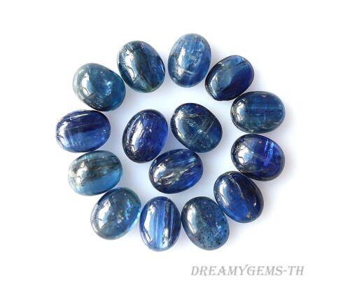 37.38 Ct 15 Pcs Natural Blue Kyanite Cabochon Oval Cut 9x7 mm Gemstone Lot