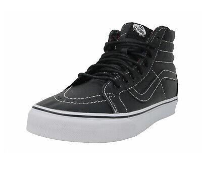 Vans Men Women Shoes SK8 Hi Reissue Leather Black Plaid