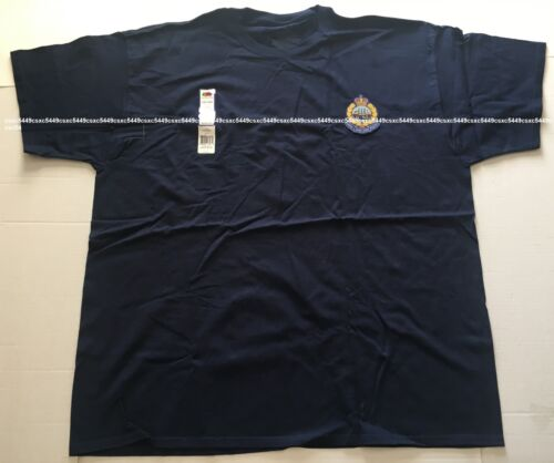 Sz 2XL - Royal. Hong. Kong. Police. Men 100% Cotton tees w/woven badge. 1969-97