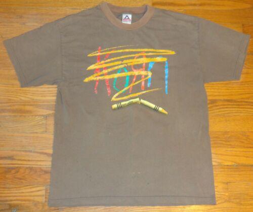 True Vintage 2001 Korn Concert T Shirt Crayon Logo Metal Band Giant Rare Large