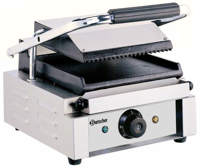 Bartscher Profi Gastro Kontaktgrill  Seiten oben gerillt unten glatt A150668
