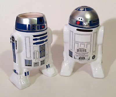 Sculpted Star Wars R2 D2 Ceramic Mug And Ceramic Coin Bank Set   New Unused