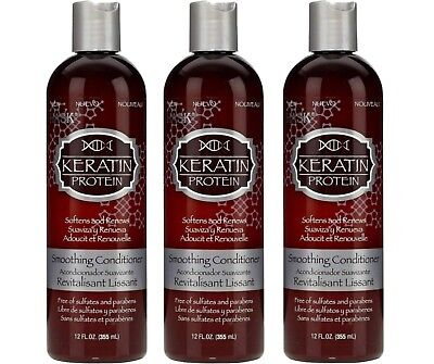 3 - Hask Conditioner KERATIN Protein Smoothing 12oz each - NEW