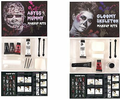 Face Paint Makeup SFX Kit Mummy Skeleton Scary Halloween Fancy Dress Party  - Mummy Halloween Face