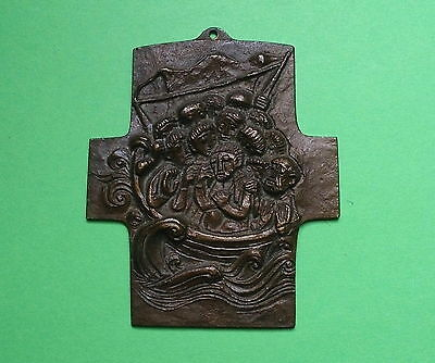 Artist Bronze cross First Holy Communion 1973 Signed