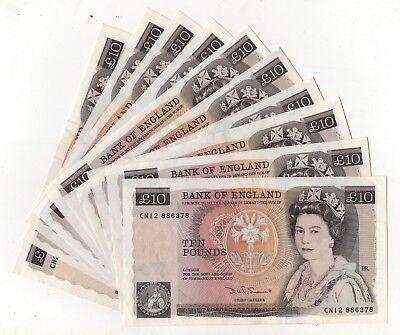 Somerset Florence Nightingale Ten Pound £10 Banknote (1984-1987) B348 EF+