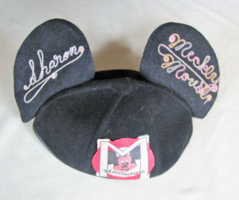 "Mickey Mouse Club, Original Mouseketeer Ears, engraved, ""Sharon"", Benay-Albee"