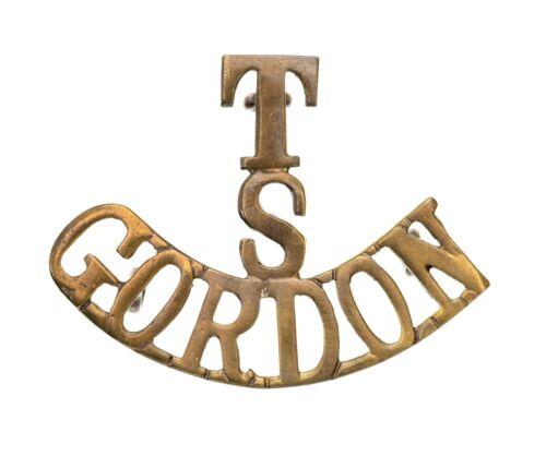 T S Gordon Shoulder Title Brass Metal