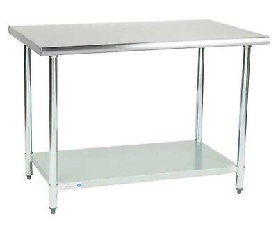 30 X 48 Stainless Steel Work Prep Table With Undershelf Kitchen Restaurant New