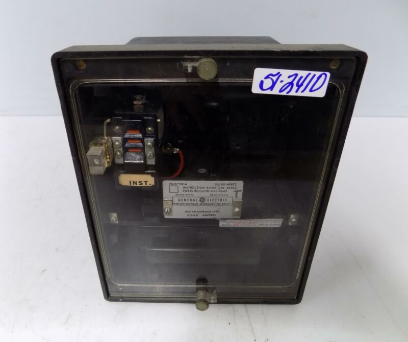 GENERAL ELECTRIC INSTANTANEOUS OVERCURENT RELAY 12HFC11B1A