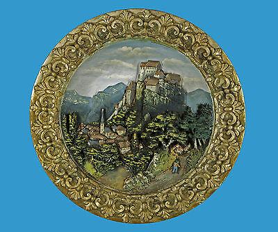 Stadt u.Burg Pottenstein seltener Wandteller um 1880 Schiller& Sohn in Bodenbach