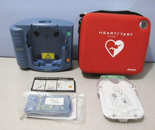 Philips Heartstart HS1 ONSITE AED Bundle: NEW BATTERY (2026), Case, Smart Pads