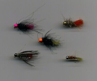 12 x Blue bottle dry trout fishing flies size 14 by Salmoflies