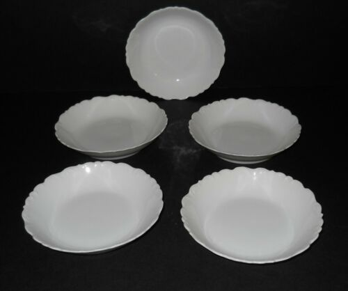 Antique 1896 -1920 Elite L France Small Limoges Porcelain Bowls Set of 5