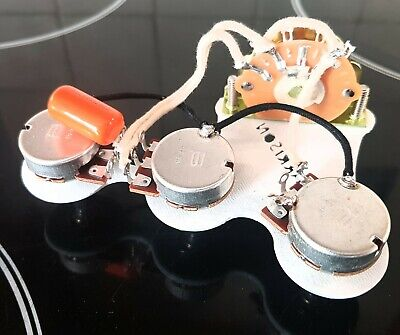 Fender Strat prewired guitar harness upgrade sprague oak 5-way switch UK