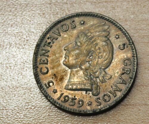 1959 Dominican Republic 5 Centavos