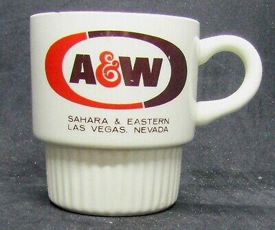 A & W Root Beer Stand ceramic Coffee cup Sahara & Eastern Las Vegag  3.5""