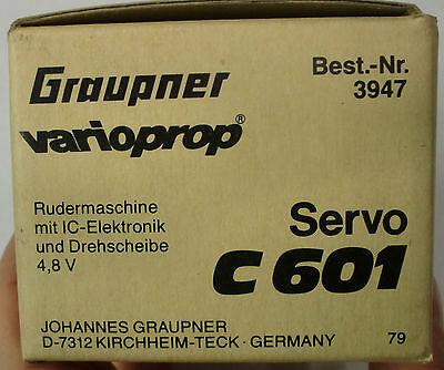 Graupner varioprop Servo C601 Art. 3947 Rudermaschine 4,8 V Vintage Neu OVP MIB
