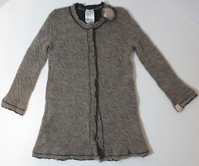 Boutique Caffe D' Orzo Girl's Size 4 Wool Blend Cardigan Sweater Made in Italy