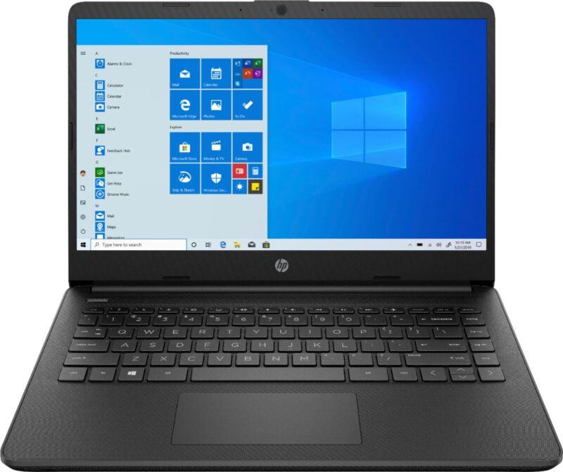 "HP - 14"" Laptop - Intel Celeron - 4GB Memory - 64GB eMMC - Jet Black"