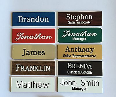 3 1x3 Employee Personalized Name Tag Badge Customized Identification Engraved