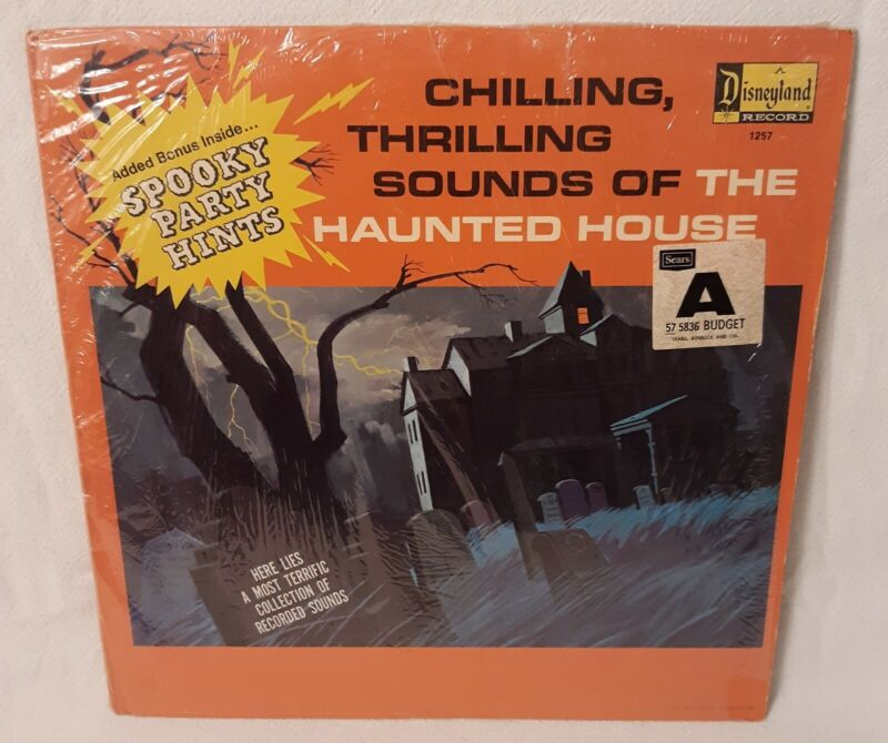 Disneyland Records 1964 Chilling, Thrilling Sounds of The Haunted House NM COND