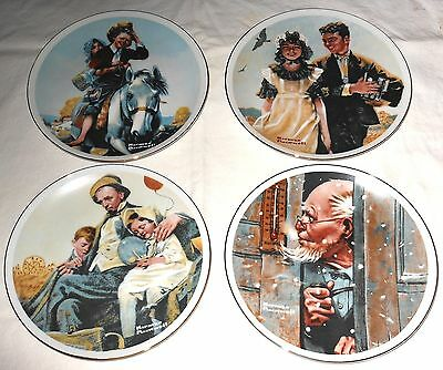 NORMAN ROCKWELL - 1 LOT OF 4 COLLECTOR Plates