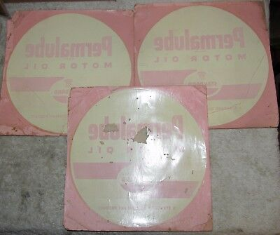 (3) Vintage Original Standard Oil PERMALUBE Decal/Sticker Lot Never Used J0657
