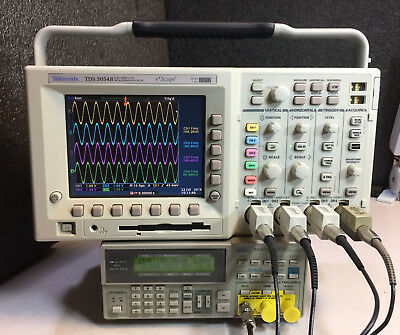 Tektronix Tds3014b Upgraded To Tds3054b 4ch Dpo Oscilloscope 500mhz 5gss