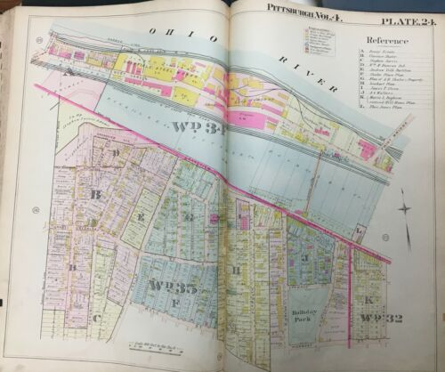 1901 DUQUESNE HEIGHTS PITTSBURGH PA HOLLIDAY PARK PIERMONT-OHIO RIVER ATLAS MAP