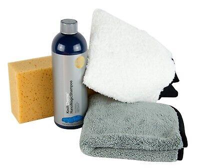 KOCH CHEMIE Nano Magic Shampoo & Meguiar's Waschhandschuh & Schwamm & Tuch