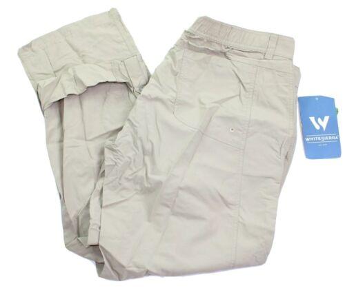 White Sierra Mens Size XL Khaki SPF 30 Teflon Hiking Pants N