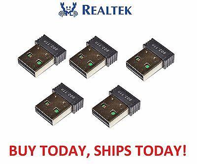 5x LOT Realtek RTL8188 MINI USB WiFi Wireless 802.11B/G/N Card Network Adapter