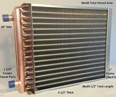 36x36 Water To Air Heat Exchangerwith 1 14 Ports W Ez Install Front Flange