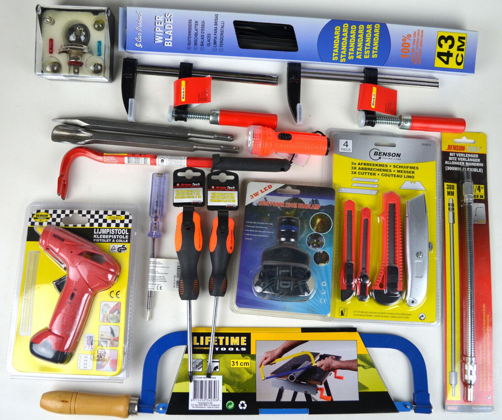 Werkzeug Restposten Baumarkt Schrauben Schlüssel Säge Taschenlampe Bohrer