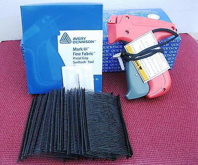 10312 Avery Dennison Fine Fabric Price Tagging Gun 5000 2 Black Barbs