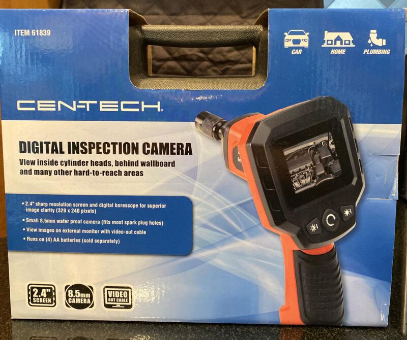 """Cen-Tech High Resolution DIGITAL INSPECTION Camera 2.4"""" Screen  61839 (8397)"""