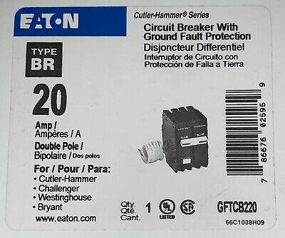Eaton Cutler Hammer Gftcb220 2 Pole 20 Amp Type Br Ground Fault Circuit Breaker