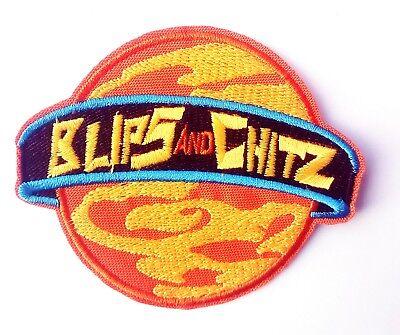 Blips and Chitz Logo - Rick and Morty - Kostüm Aufnäher Uniform Patch - neu