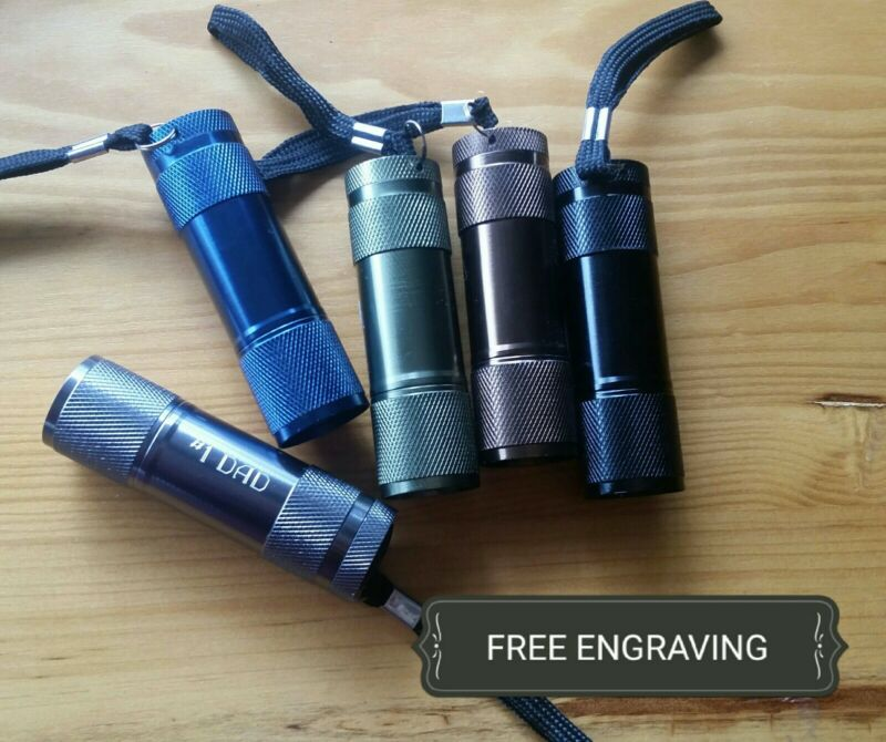 FREE ENGRAVING (PERSONALIZED) Flashlight (Dad, Grandpa Gift- Father