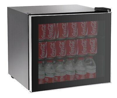 Beverage Center Refrigerator Cooler Glass Door Mini Fridge Wine Soda Can Compact
